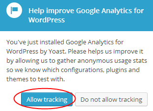 Allow Tracking