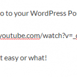 Embed Video In WordPressPost