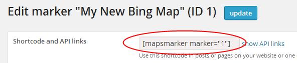 Marker Short Code