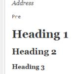 Paragraph Heading Font Size