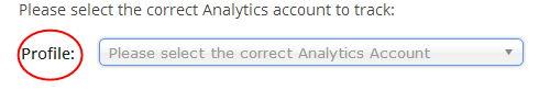 Select Google Analytics Profile