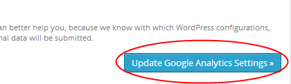 Update Google Analytics Settings