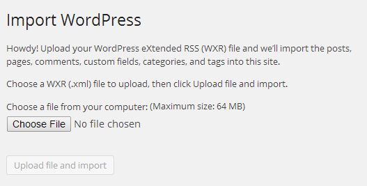 WordPress Importer