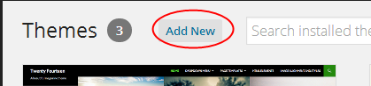 Add New Button