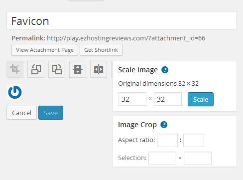 Edit Image Options