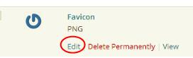 Edit Media File Link