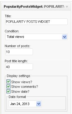 Popularity Posts Widget
