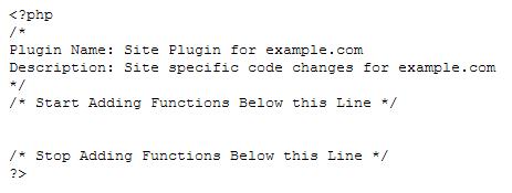 Site-Specific Plugin Code