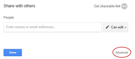 Advanced Google Drive