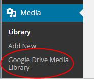 Google Drive Media Library