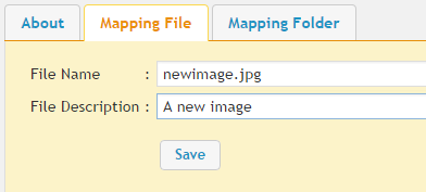 Mapping File Tab