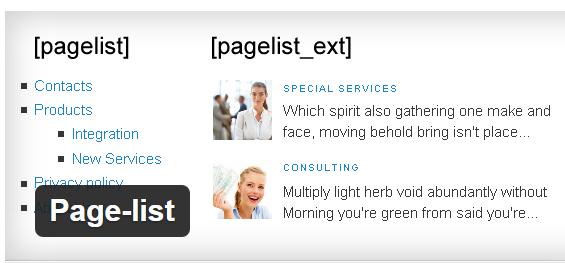 PageList Plugin