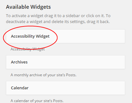 Accessibility Widget