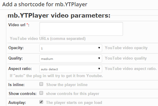Video Configurations For Page