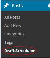 Draft Scheduler Under Posts