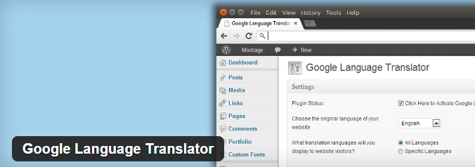 Google Translator Plugin
