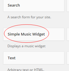Simple Music Widget Widget