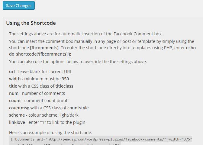 FB Shortcodes