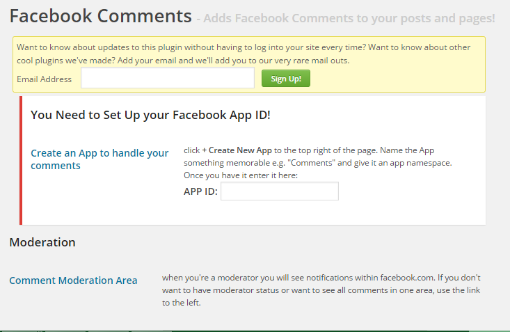 Facebook Comment Settings