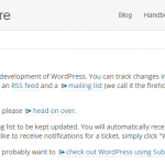 WordPress Trac System