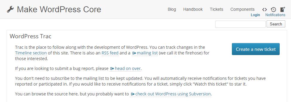 WordPress Trac System