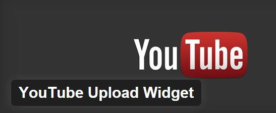 YouTube Upload Widget
