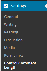 Comment Plugin Settings