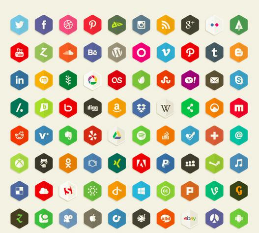 Deviant Art Polygon Icons