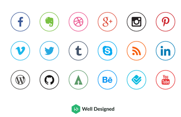 Dribble Circle Outline Icons