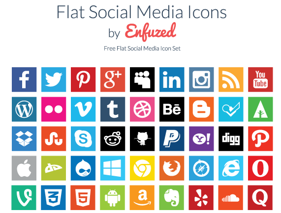 Enfused Flat Icons