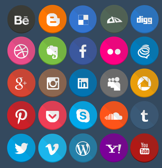 Geekly 40 Flat Icons