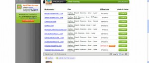 GoDaddy Web Hosting Control Panel