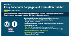 Easy Facebook Fanpage And Promotion Builder
