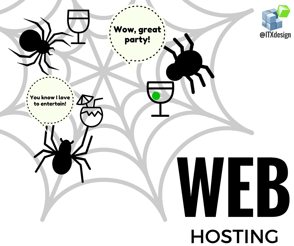 spider web hosting party
